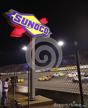 NASCAR - Richmond Sunoco Turn 4 at Night Editorial Image
