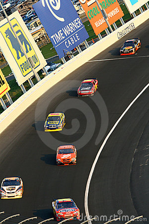 NASCAR - rolling through the corner Editorial Photo