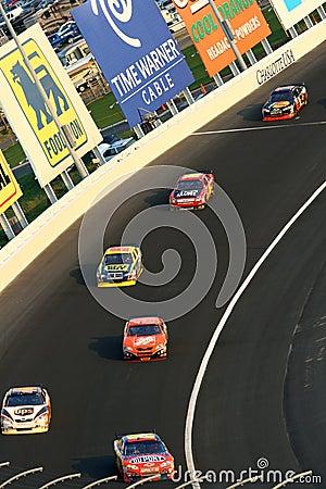 NASCAR - rolling through the corner Editorial Photo