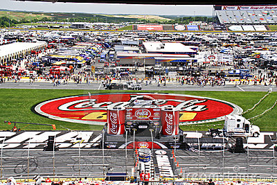 NASCAR - Setting the Stage for the Coca Cola 600 Editorial Photo