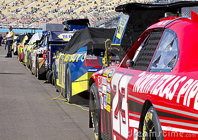 NASCAR Sprint Cup Cars Lined Up Editorial Stock Image