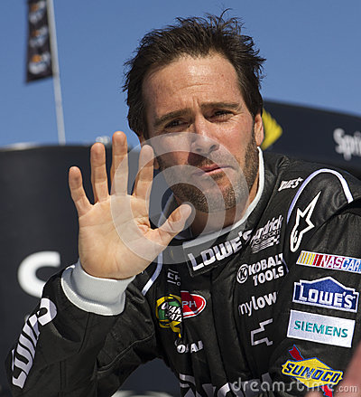 NASCAR Sprint Cup Champion driver Jimmie Johnson Editorial Stock Image