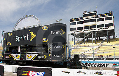 NASCAR Sprint Cup Driver Introduction Stage Editorial Photo