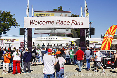 NASCAR - Welcome Race Fans Editorial Image