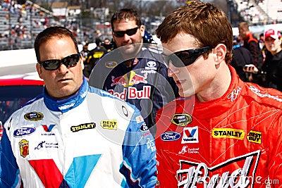 NASCAR驱动器Kasey Kahne所有商业 编辑类库存照片