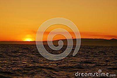 Nascer do sol colorido