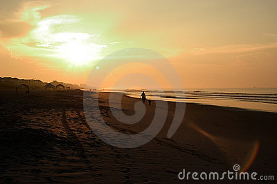 Nascer do sol da praia, North Carolina