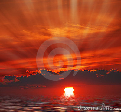 Nascer do sol no oceano
