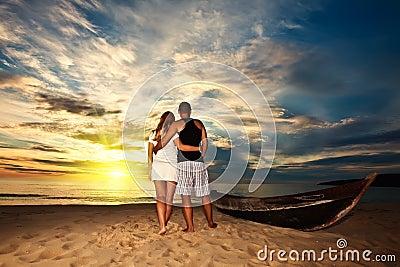 Nascer do sol romântico