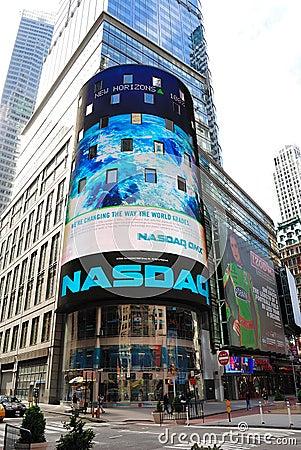 NASDAQ Editorial Stock Image