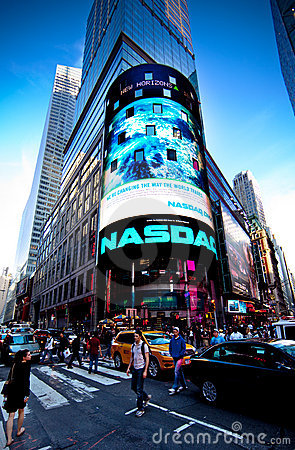 The NASDAQ Stock Market Editorial Photography
