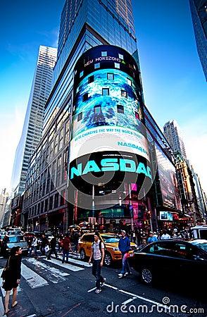 The NASDAQ Stock Market Editorial Photography