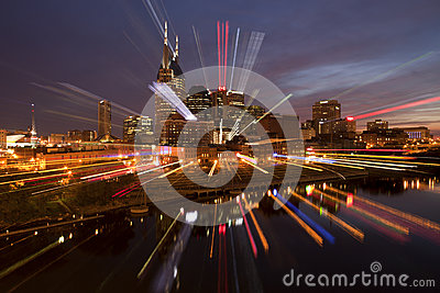 Nashville Tennessee (abstract) Editorial Image