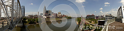 Nashville, Tennessee (panoramic) Editorial Stock Image