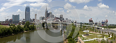 Nashville Tennessee (panoramic) Editorial Photo