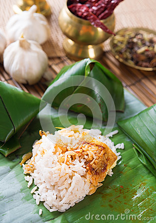 Nasi lemak Malay dish