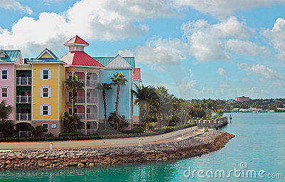 Nassau Bahamas Colorful Townhouses