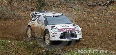 Nasser Al Attitah (QAT) driving is Citroen DS3 Editorial Stock Image