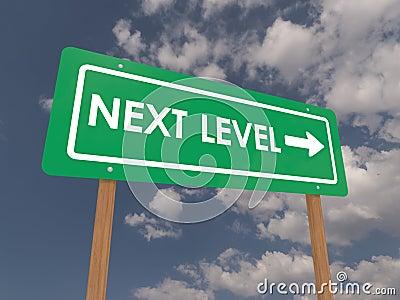 Następny pozioma znak