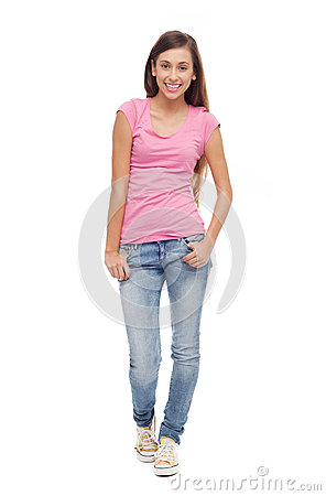 Nastolatek żeńska pozycja