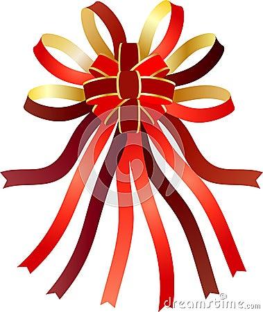 Nastri decorativi nell 39 arco fotografia stock immagine 9432700 - Nastri decorativi natalizi ...