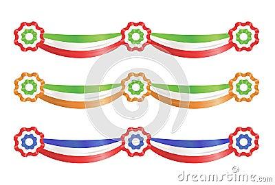 Nastri della decorazione del partito della bandierina
