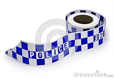 Nastro della scena del crimine della polizia
