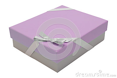 Nastro rosa del contenitore di regalo