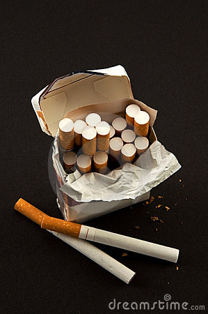 Nasty  open pack cigarettes