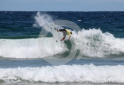 Nat Young - Australian Open Manly Beach Editorial Stock Photo