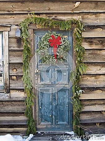 Natale ad una cabina di libro macchina