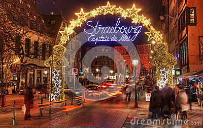 Natale di Strasburgo capitale Immagine Stock Editoriale