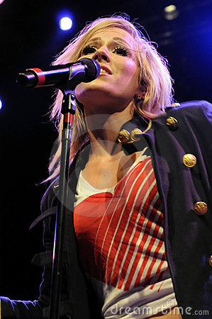 Natasha Bedingfield performing live Editorial Stock Image