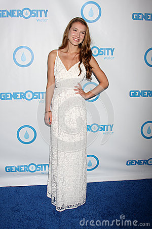 Nathalia Ramos arrives at the 4th Annual Night of Generosity Gala Event Editorial Photography