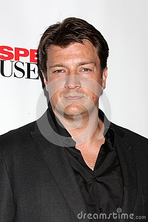 Nathan Fillion arrives at the  Editorial Photo