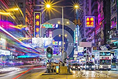 Nathan Road Hong Kong Editorial Stock Photo