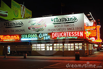 Nathan s Hotdogs Editorial Photo