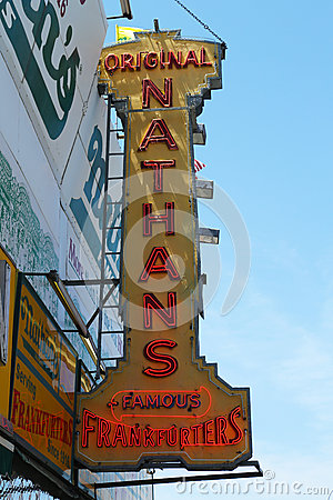 The Nathan s original restaurant at Coney Island, New York Editorial Photography