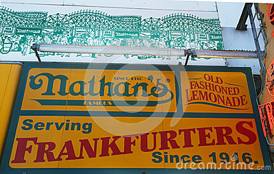 The Nathan s original restaurant at Coney Island, New York Editorial Image