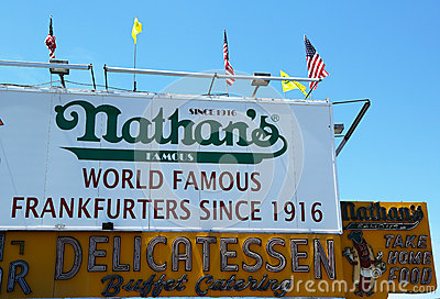 The Nathan s original restaurant at Coney Island, New York Editorial Stock Image