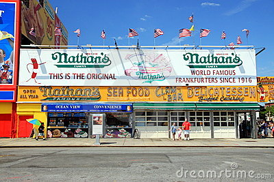 Nathan s World Famous Hot Dogs Editorial Stock Image