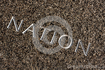 Nation Carved In Stone Stock Photo Image 39706937