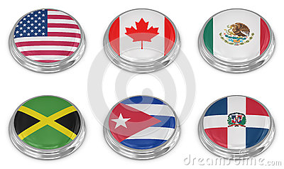 Nation flag icon set