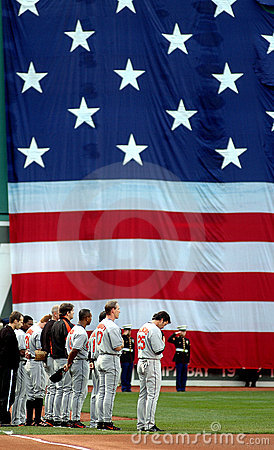 National Anthem Editorial Photography