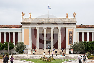 National Archaeological Museum Athens Greece Editorial Photo
