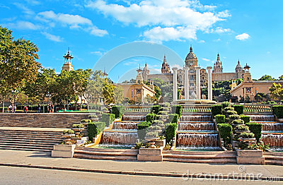 National Art Museum in Barcelona, Spain Editorial Stock Image