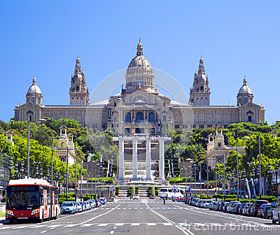 National Art Museum of Catalonia in Barcelona Editorial Stock Image