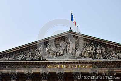 The national assembly in Paris