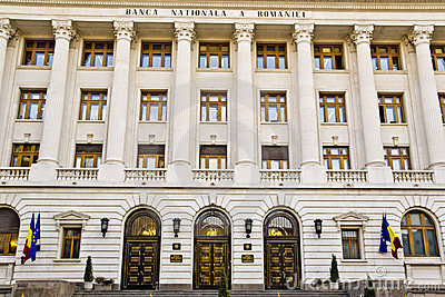 National Bank van Roemenië Redactionele Foto