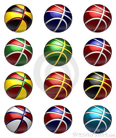 National basketball balls